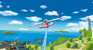 Wii Sports Resort biplane island